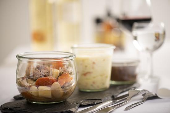 Gamme de plats cuisinés individuels en bocaux